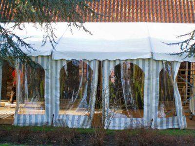 raamwanden van frametent 8x12m