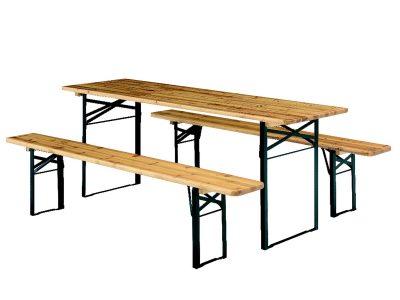 Biertafelset (= 1x klaptafel 50x220 cm. + 2x klapbank)