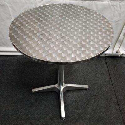 Bistrotafel rvs tafelblad 60cm