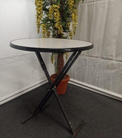 Statafel rond 90cm, granieten tafelblad